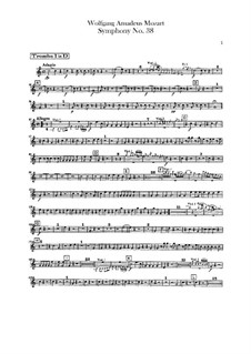 Symphony No.38 in D Major 'Prague', K.504: Trumpets parts by Wolfgang Amadeus Mozart
