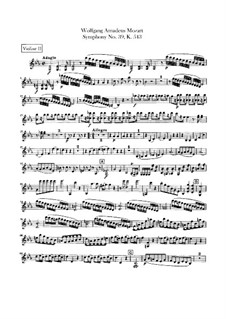 Symphony No.39 in E Flat Major, K.543: Violin II part by Wolfgang Amadeus Mozart