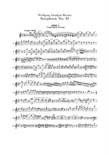 Complete Movements: Oboes parts by Wolfgang Amadeus Mozart