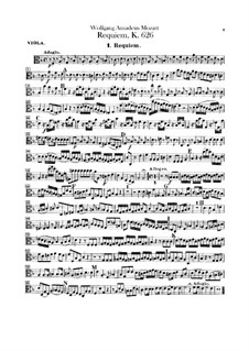 Complete Movements: Viola part by Wolfgang Amadeus Mozart