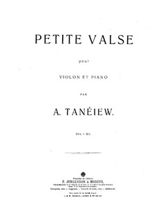 Little Waltz for Violin and Piano: Score by Alexander Taneyev