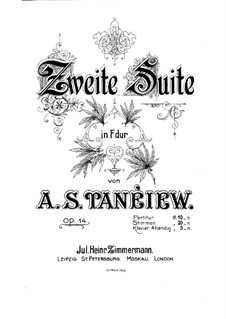 Suite for Orchestra No.2, Op.14: Movements I-II by Alexander Taneyev