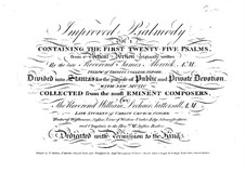 Improved Psalmody: Improved Psalmody by Georg Friedrich Händel, Philip Hayes, Samuel Webbe, John Wall Callcott, William de Chair Tattersall