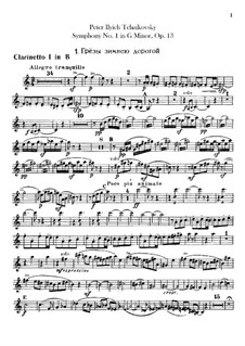 Symphony No.1 in G Minor 'Winter Daydreams', TH 24 Op.13: Clarinets parts by Pyotr Tchaikovsky