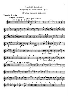 Symphony No.1 in G Minor 'Winter Daydreams', TH 24 Op.13: Trumpets parts by Pyotr Tchaikovsky