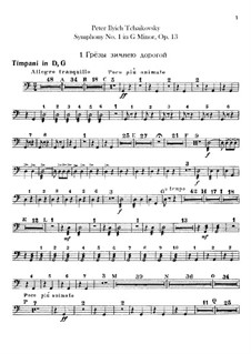 Symphony No.1 in G Minor 'Winter Daydreams', TH 24 Op.13: Percussion parts by Pyotr Tchaikovsky