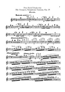 The Tempest, TH 44 Op.18: Flute piccolo part by Pyotr Tchaikovsky