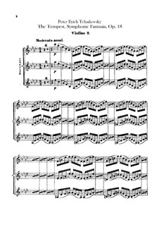The Tempest, TH 44 Op.18: Violins II part by Pyotr Tchaikovsky