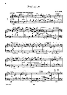 Six Pieces for Piano, TH 133 Op.19: No.4 Nocturne, for harmonium by Pyotr Tchaikovsky