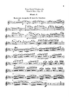 Slavonic March, TH 45 Op.31: Flutes parts by Pyotr Tchaikovsky