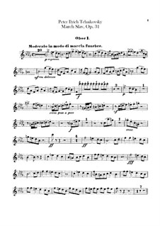 Slavonic March, TH 45 Op.31: Oboes parts by Pyotr Tchaikovsky