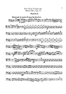 Slavonic March, TH 45 Op.31: Bassoons parts by Pyotr Tchaikovsky