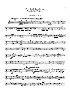Slavonic March, TH 45 Op.31: Cornets parts by Pyotr Tchaikovsky