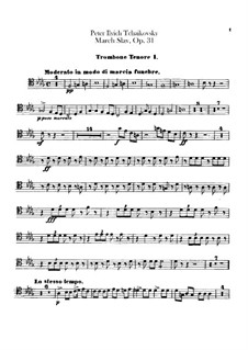 Slavonic March, TH 45 Op.31: Trombones and tuba parts by Pyotr Tchaikovsky