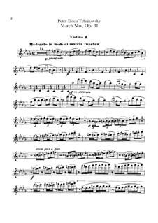 Slavonic March, TH 45 Op.31: Violins I part by Pyotr Tchaikovsky