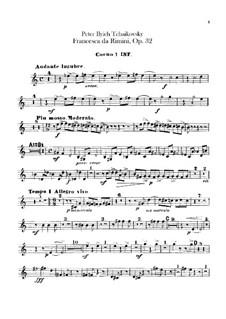 Francesca da Rimini, TH 46 Op.32: Horns parts by Pyotr Tchaikovsky