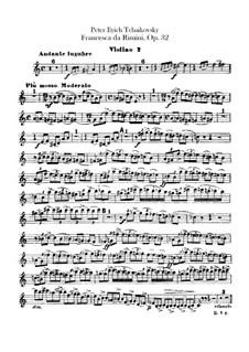 Francesca da Rimini, TH 46 Op.32: Violins II part by Pyotr Tchaikovsky
