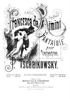 Francesca da Rimini, TH 46 Op.32: For piano four hands by Pyotr Tchaikovsky