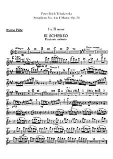 Symphony No.4 in F Minor, TH 27 Op.36: Flutes parts by Pyotr Tchaikovsky