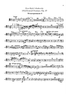 1812. Festival Overture, TH 49 Op.49: Trombones and tuba parts by Pyotr Tchaikovsky