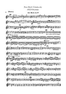 1812. Festival Overture, TH 49 Op.49: Banda parts by Pyotr Tchaikovsky
