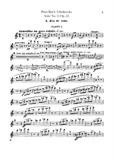Suite No.2 in C Major, TH 32 Op.53: Flutes parts by Pyotr Tchaikovsky