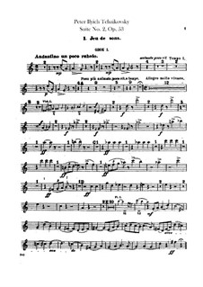 Suite No.2 in C Major, TH 32 Op.53: Oboes and cor anglais parts by Pyotr Tchaikovsky