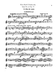 Suite No.2 in C Major, TH 32 Op.53: Clarinets parts by Pyotr Tchaikovsky