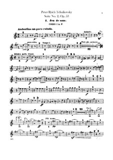 Suite No.2 in C Major, TH 32 Op.53: Horns I-II parts by Pyotr Tchaikovsky