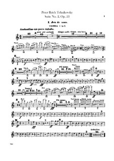 Suite No.2 in C Major, TH 32 Op.53: Trumpets parts by Pyotr Tchaikovsky