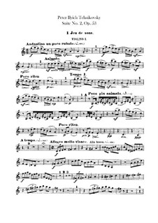 Suite No.2 in C Major, TH 32 Op.53: Violins I part by Pyotr Tchaikovsky