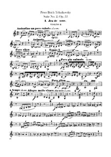Suite No.2 in C Major, TH 32 Op.53: Violins II part by Pyotr Tchaikovsky