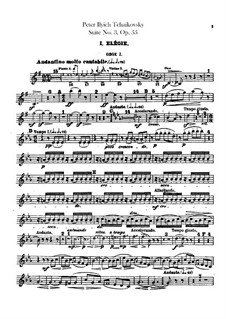 Suite No.3 in G Major, TH 33 Op.55: Oboes and cor anglais parts by Pyotr Tchaikovsky