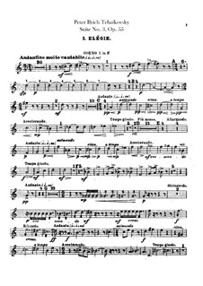 Suite No.3 in G Major, TH 33 Op.55: Horns parts by Pyotr Tchaikovsky