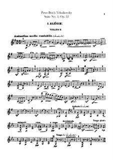 Suite No.3 in G Major, TH 33 Op.55: Violins II part by Pyotr Tchaikovsky