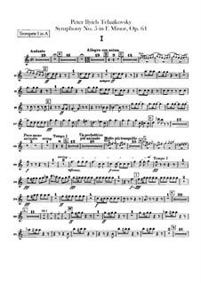 Complete Movements: Trumpets parts by Pyotr Tchaikovsky