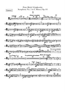 Complete Movements: Trombones and tuba parts by Pyotr Tchaikovsky