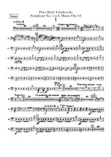 Complete Movements: Timpani part by Pyotr Tchaikovsky