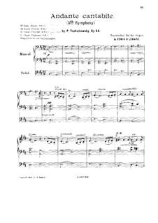 Movement II: Arrangement for organ by Pyotr Tchaikovsky