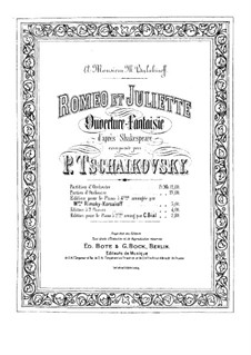 Complete Overture: For piano by Pyotr Tchaikovsky