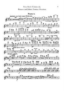 Complete Overture: Flutes parts by Pyotr Tchaikovsky