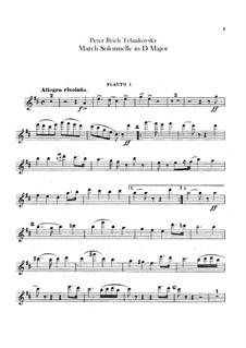 Jurisprudence March, TH 52: Flutes parts by Pyotr Tchaikovsky