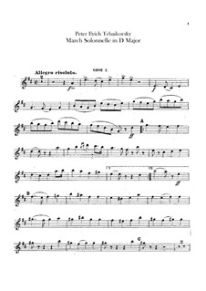 Jurisprudence March, TH 52: Oboes and cor anglais parts by Pyotr Tchaikovsky
