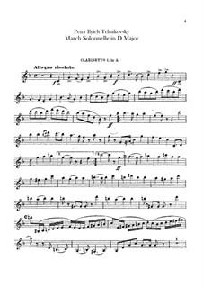 Jurisprudence March, TH 52: Clarinets parts by Pyotr Tchaikovsky