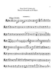 Jurisprudence March, TH 52: Trombones and tuba parts by Pyotr Tchaikovsky