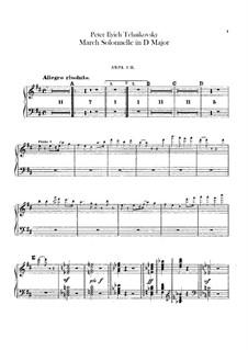 Jurisprudence March, TH 52: Harps part by Pyotr Tchaikovsky