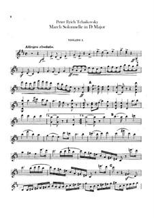 Jurisprudence March, TH 52: Violins I part by Pyotr Tchaikovsky
