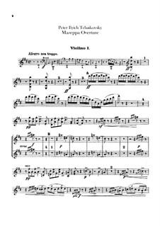 Mazepa, TH 7: Overture – violins I part by Pyotr Tchaikovsky