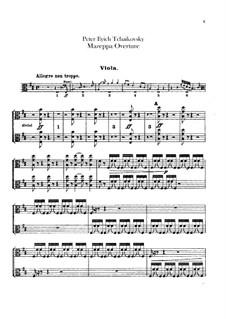 Mazepa, TH 7: Overture – violas part by Pyotr Tchaikovsky
