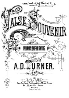 Valse souvenir: Valse souvenir by Alfred Dudley Turner